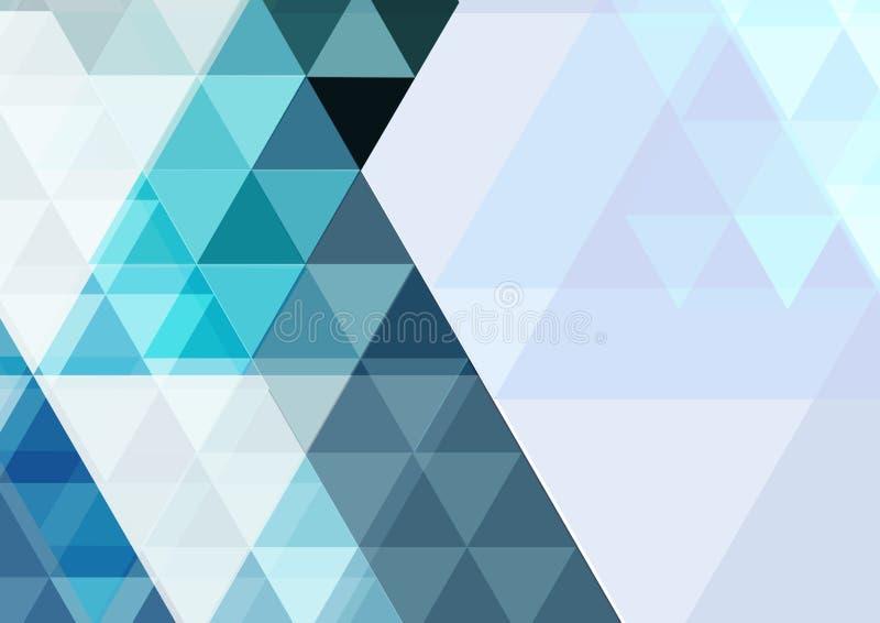Вектор современной абстрактной предпосылки треугольника геометрический современный шаблон для представления дела или технологии иллюстрация штока