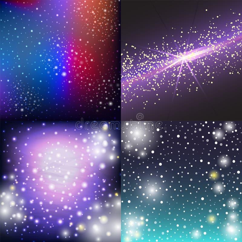 Вектор созвездия ночи космоса межзвёздного облака астрономии неба предпосылки вселенной иллюстрации космоса звёздной наружной гал иллюстрация вектора