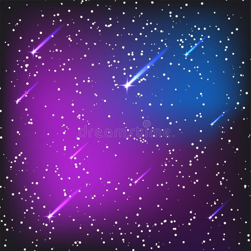 Вектор созвездия ночи космоса межзвёздного облака астрономии неба предпосылки вселенной иллюстрации космоса звёздной наружной гал бесплатная иллюстрация