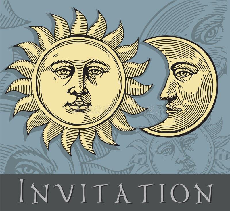 вектор солнца луны иллюстрации бесплатная иллюстрация