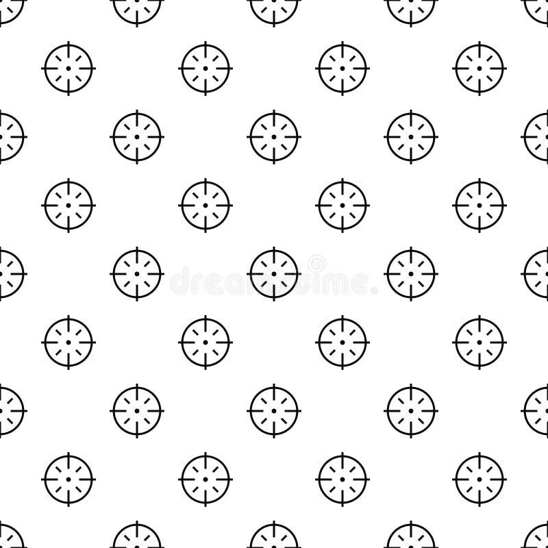 Вектор специфической картины цели безшовный иллюстрация вектора