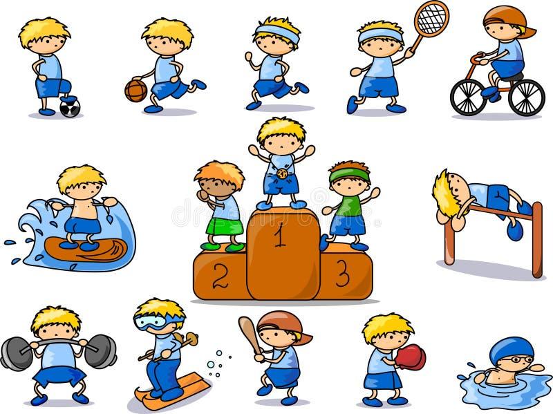 вектор спорта иконы шаржа иллюстрация вектора