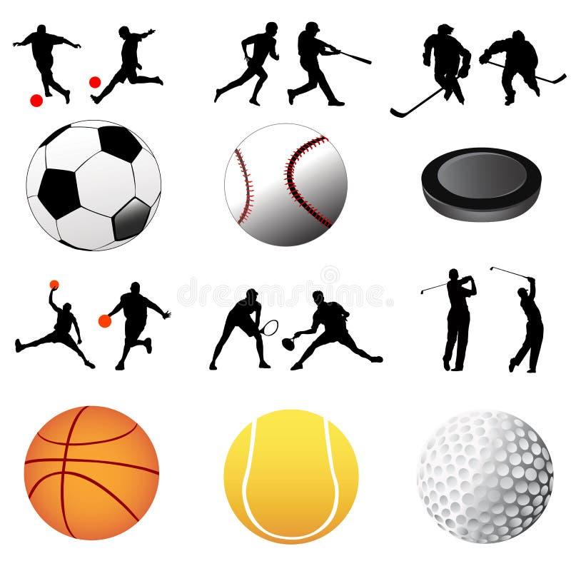 вектор спорта иконы иллюстрация штока