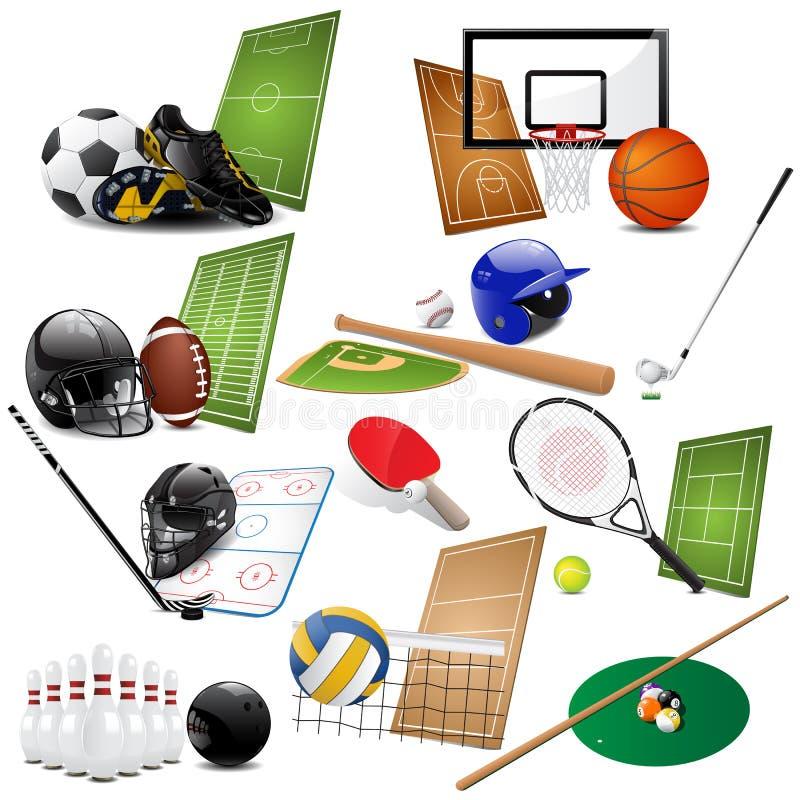 вектор спорта икон иллюстрация вектора
