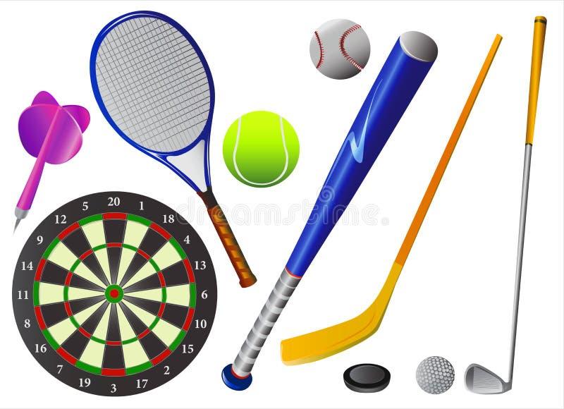 вектор спорта оборудований иллюстрация вектора