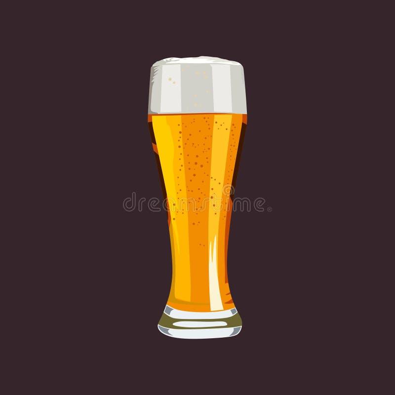 Вектор стеклянного пива свободный бесплатная иллюстрация