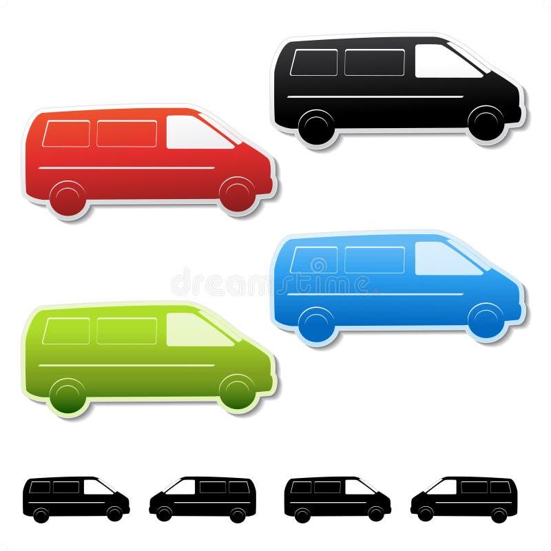 вектор стикеров поставки автомобиля свободный gratis иллюстрация штока