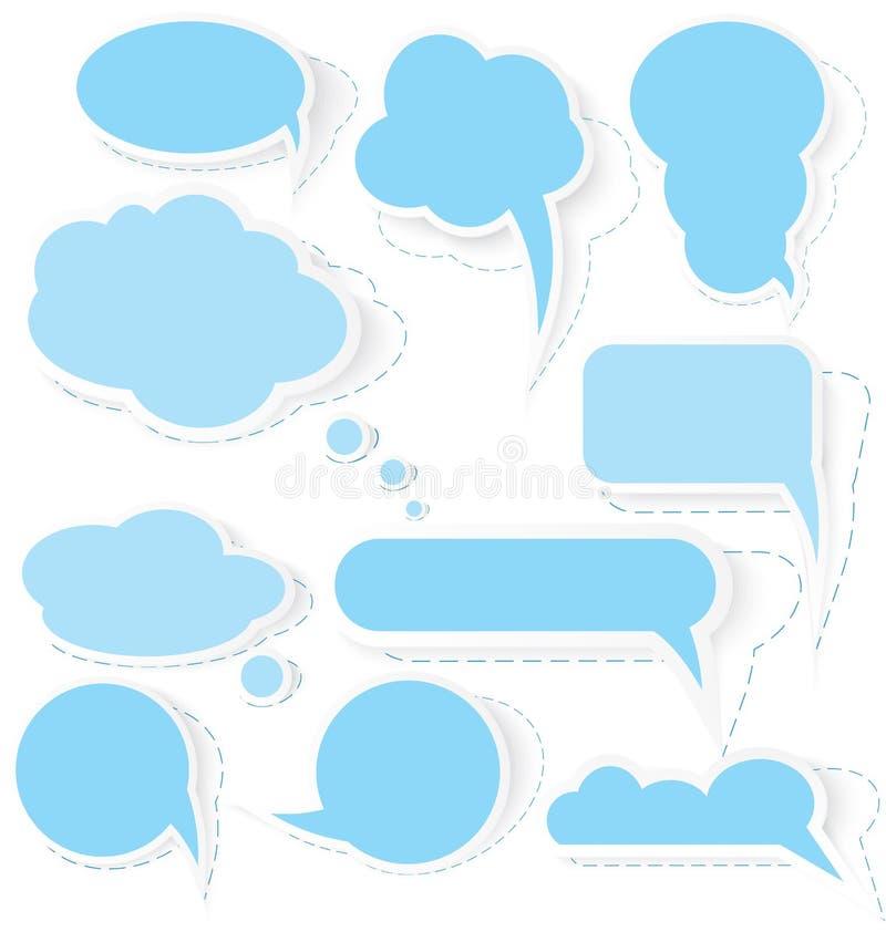 Вектор стикеров пузыря речи стоковое фото rf