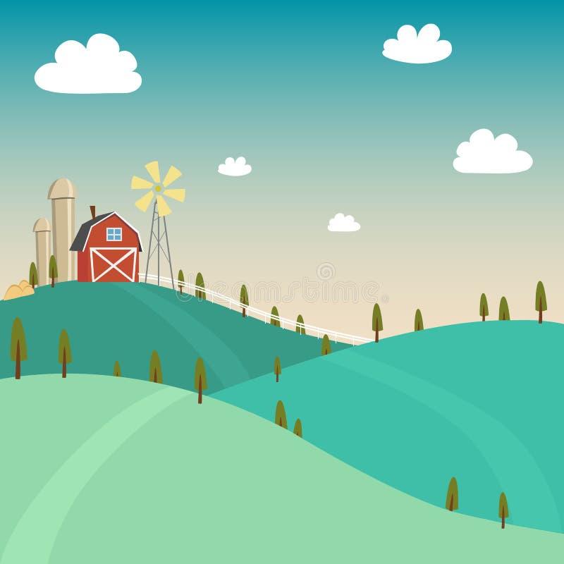 Вектор стиля фермы свежего винтажного иллюстрация штока