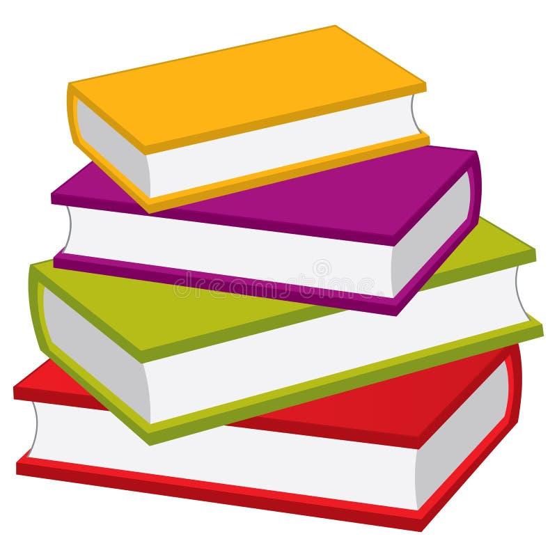 вектор стога книг Куча вектора книг иллюстрация вектора