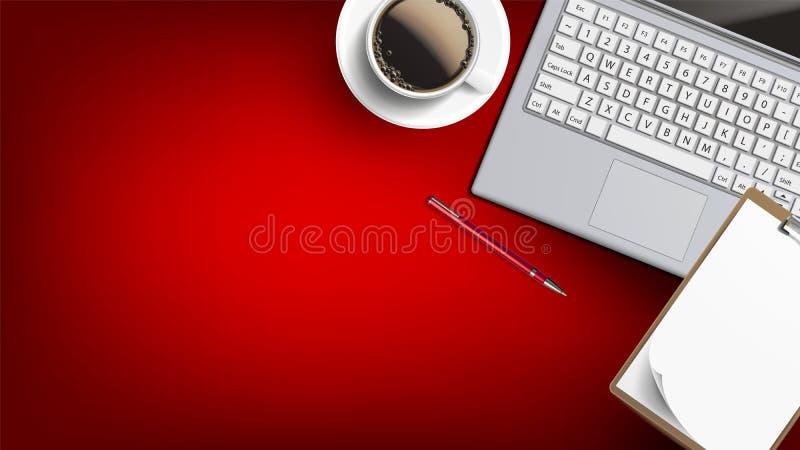 Вектор стола места домашнего бизнеса работая плоский положенный бесплатная иллюстрация
