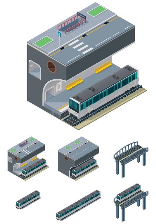вектор столичного жителя икон иллюстрация вектора