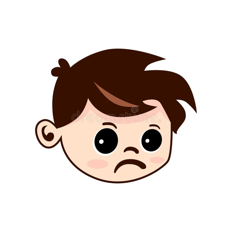 Вектор стороны детей грустный стоковое фото