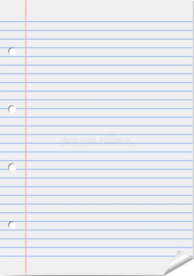вектор страницы блокнота иллюстрация штока