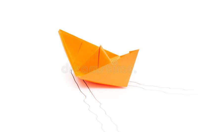 вектор схемы бумаги origami изготавливания плана шлюпки стоковая фотография rf