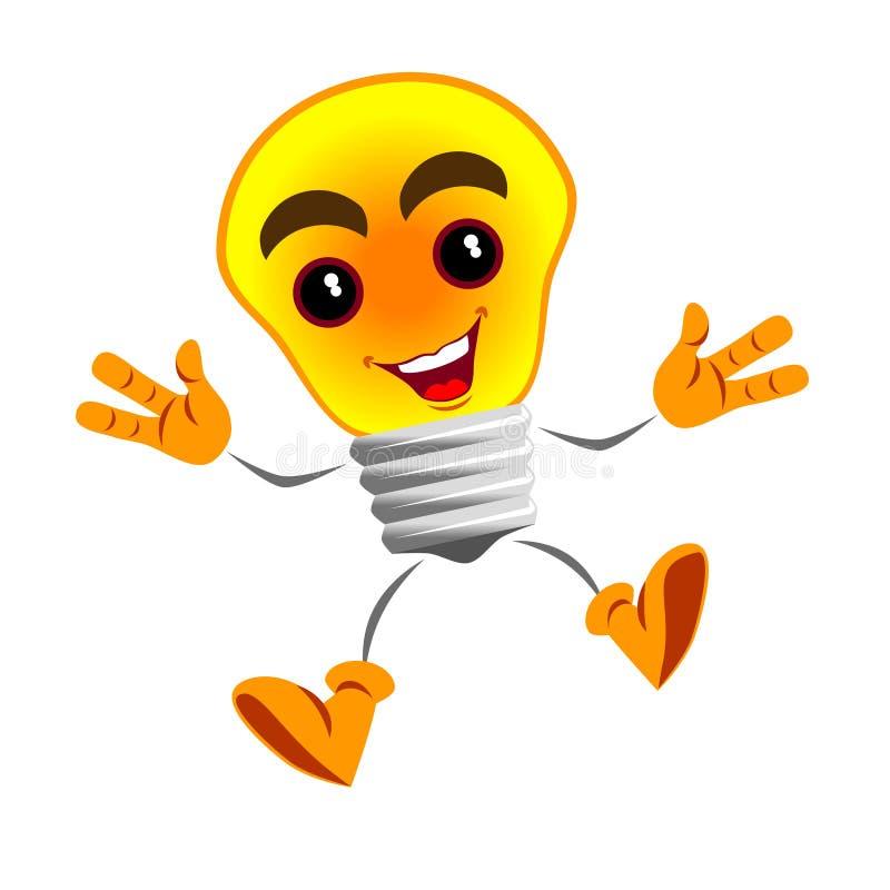 Вектор счастливой сияющей лампы иллюстрация штока