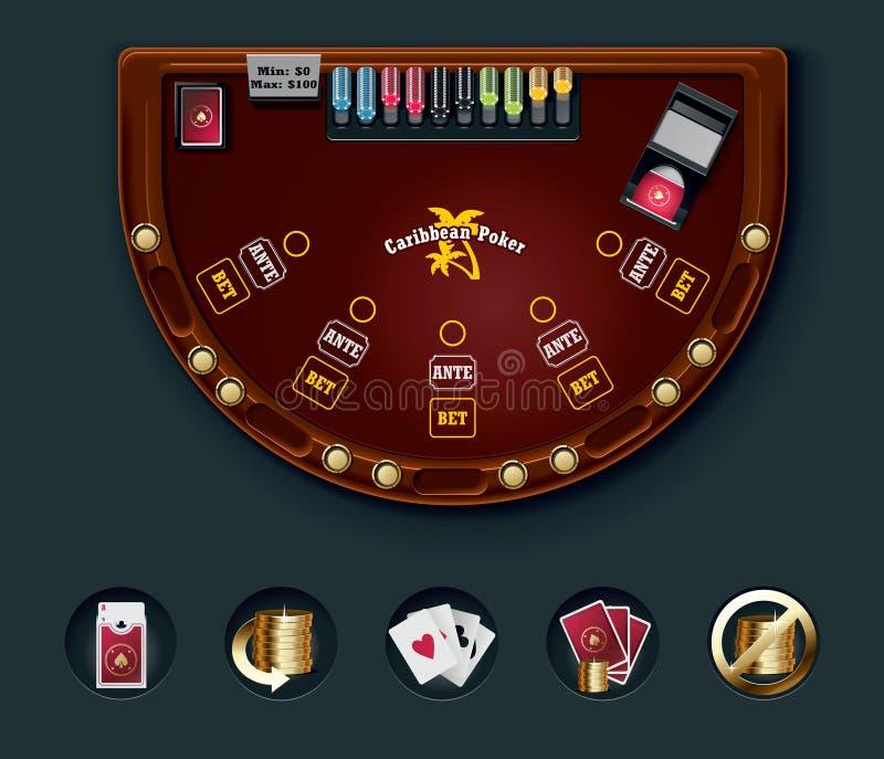 вектор таблицы покера плана иллюстрация вектора