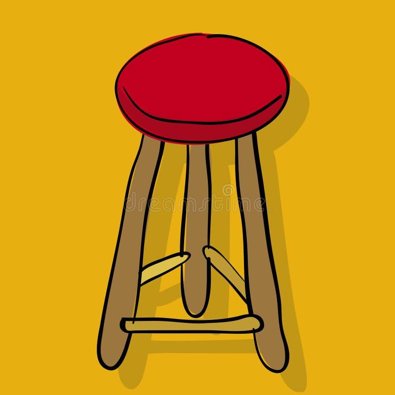 вектор табуретки стула иллюстрация вектора