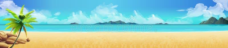 вектор также имеющегося пляжа предпосылки тропический иллюстрация вектора