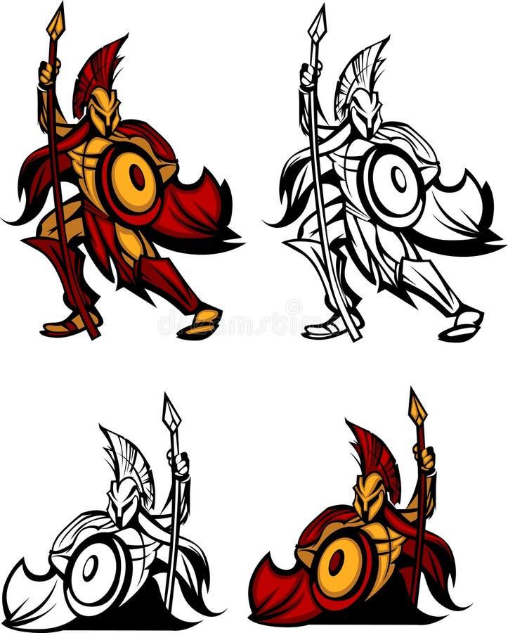 вектор талисмана логоса спартанский троянский бесплатная иллюстрация