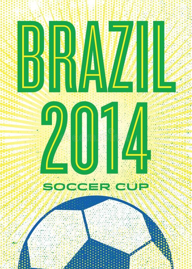 вектор текста космоса футбола плаката grunge рамки эмблемы чашки шарового подпятника подгоняет иллюстрация штока