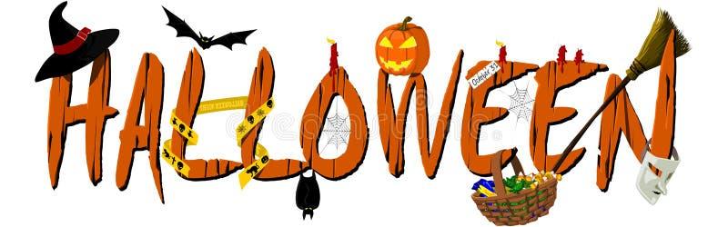 вектор текста места halloween знамени ваш иллюстрация штока