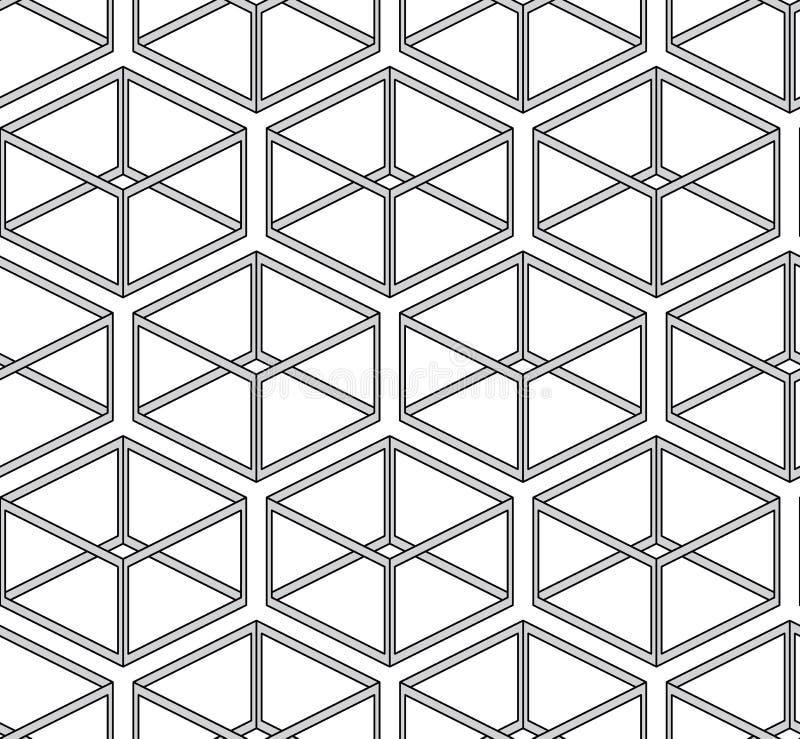 вектор текстуры абстрактных параллелепипедов безшовный иллюстрация штока