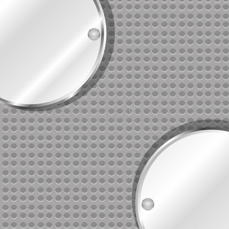 вектор текстуры предпосылки отполированный металлом стальной иллюстрация вектора