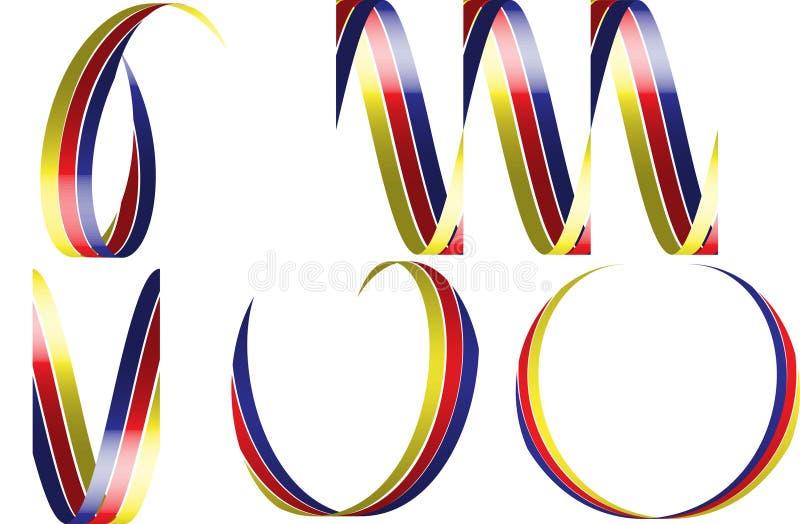 вектор тесемок 3d иллюстрация вектора