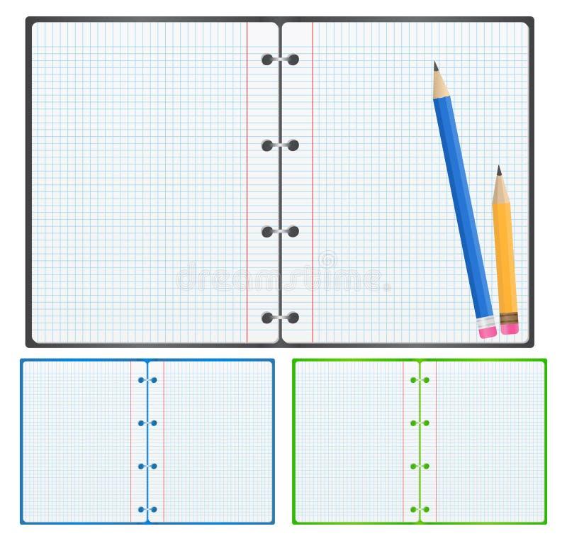 вектор тетради бумажный иллюстрация вектора