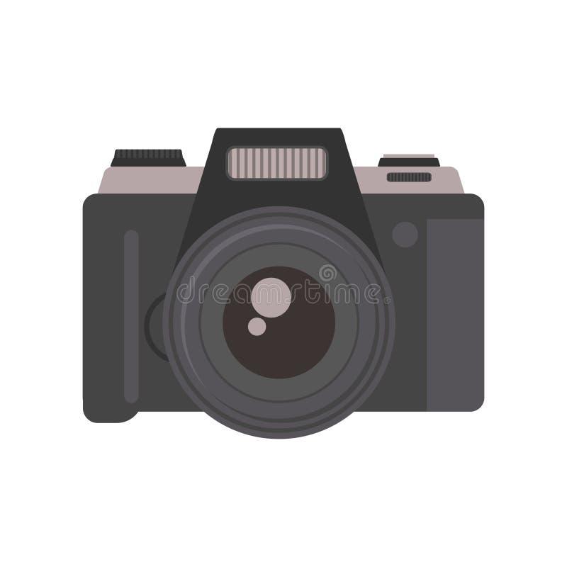 Вектор технологии объектива оборудования фотографии камеры иллюстрация вектора