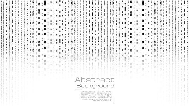 Вектор течь бинарный код на белой предпосылке иллюстрация штока