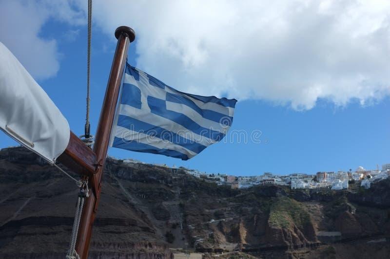 вектор типа Греции имеющегося флага стеклянный стоковые фотографии rf