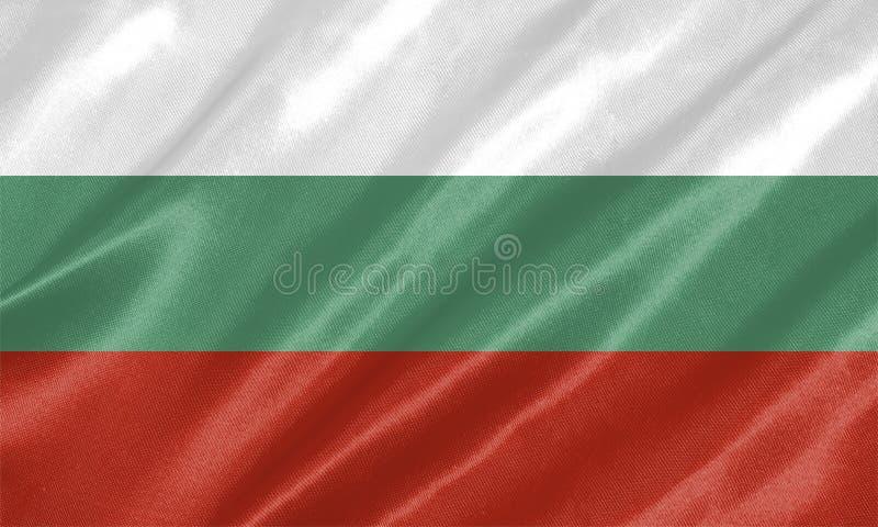 вектор типа имеющегося флага Болгарии стеклянный иллюстрация вектора