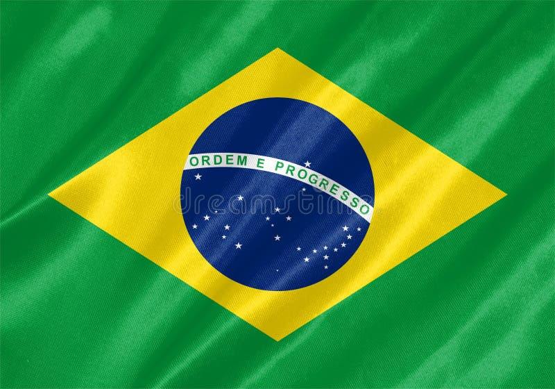 вектор типа имеющегося флага Бразилии стеклянный иллюстрация штока