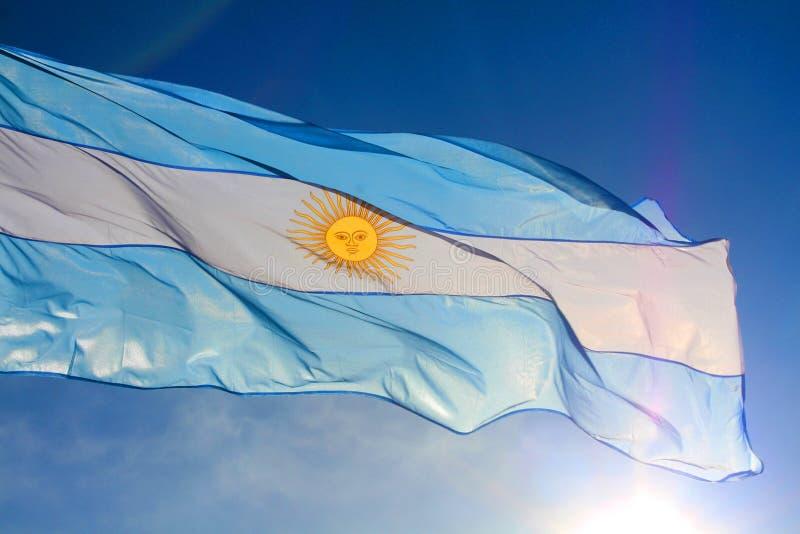 вектор типа имеющегося флага Аргентины стеклянный стоковое фото