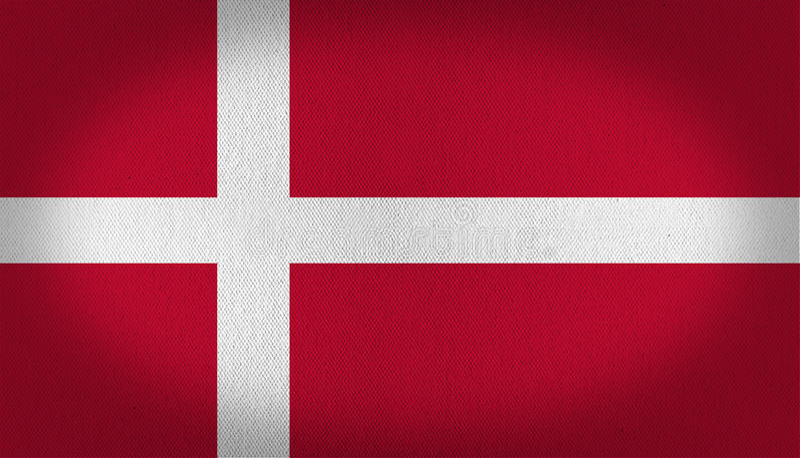 вектор типа имеющегося флага Дании стеклянный бесплатная иллюстрация
