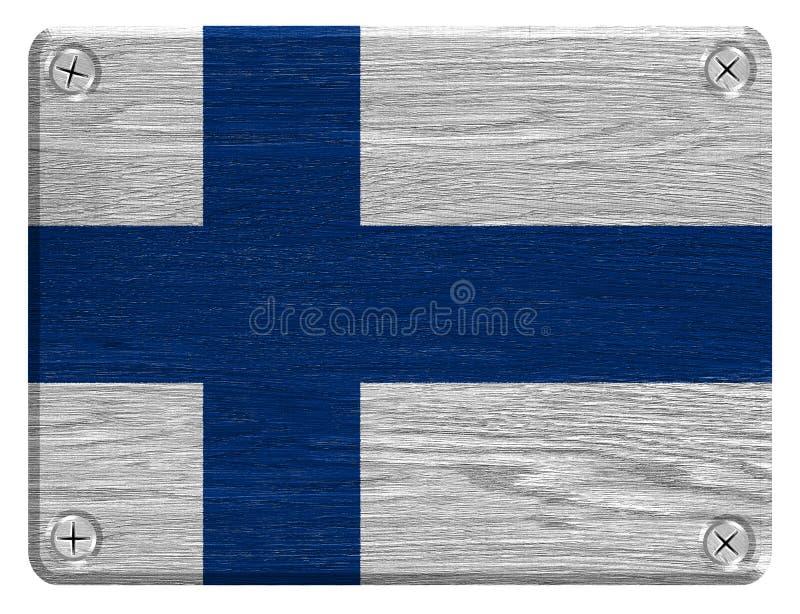 вектор типа имеющегося флага Финляндии стеклянный иллюстрация штока
