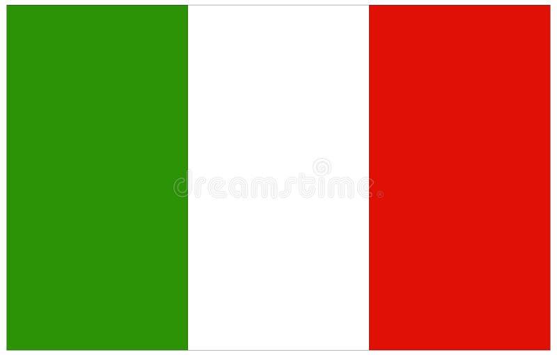 вектор типа Италии имеющегося флага стеклянный бесплатная иллюстрация