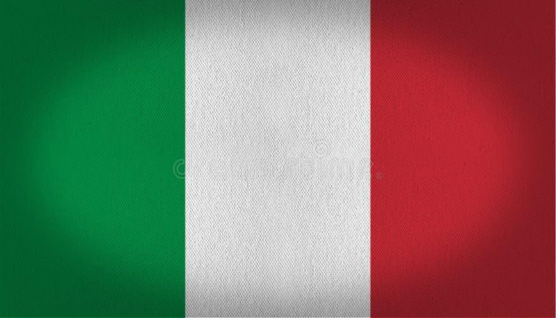 вектор типа Италии имеющегося флага стеклянный иллюстрация штока