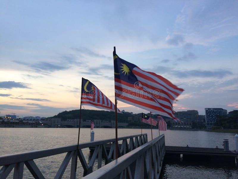 вектор типа Малайзии имеющегося флага стеклянный стоковая фотография