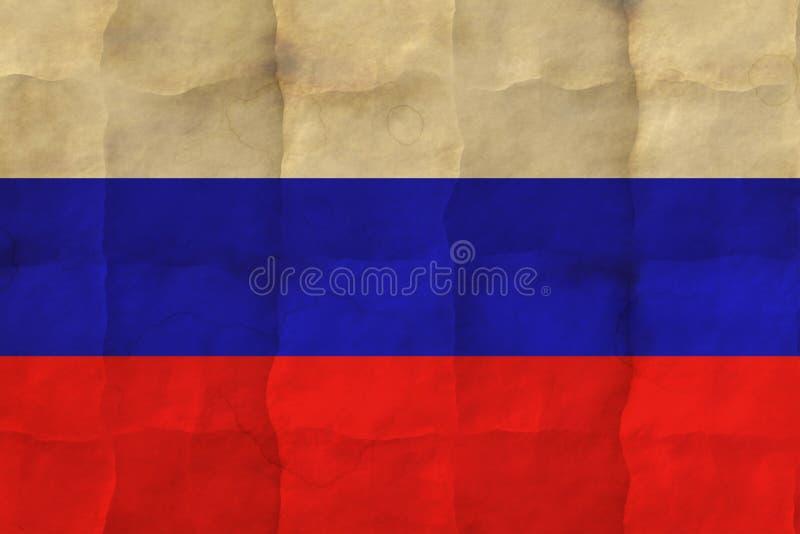 вектор типа России имеющегося флага стеклянный стоковое фото