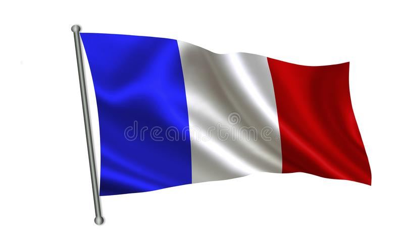 вектор типа Франции имеющегося флага стеклянный Серия флагов ` мира ` Страна - флаг Франции иллюстрация штока