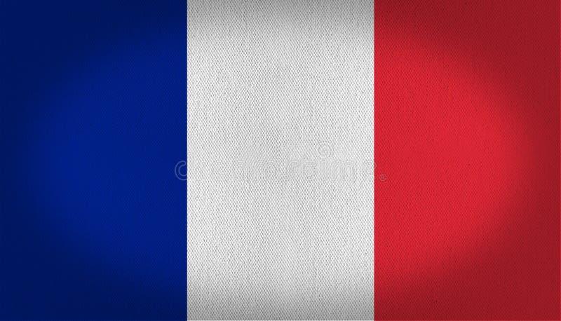 вектор типа Франции имеющегося флага стеклянный иллюстрация штока