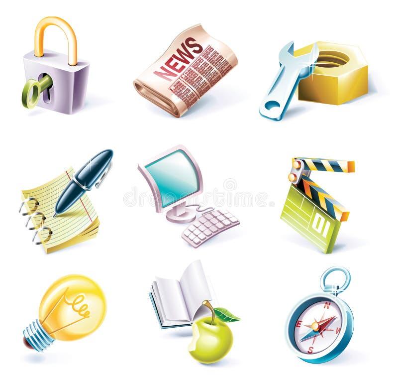 вектор типа части иконы 3 шаржей установленный бесплатная иллюстрация