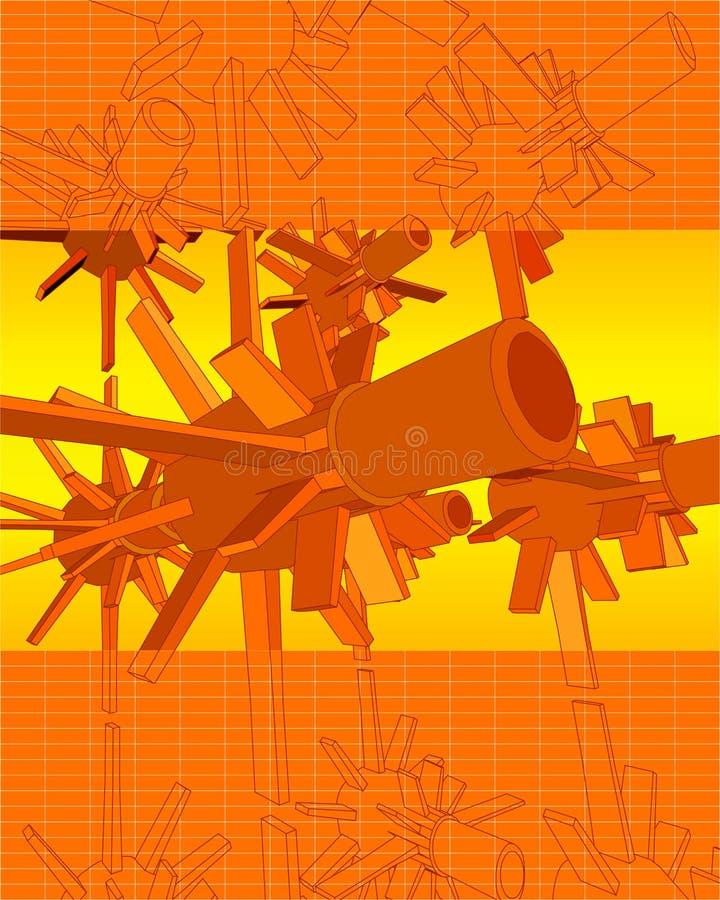 вектор турбин techno 3d бесплатная иллюстрация