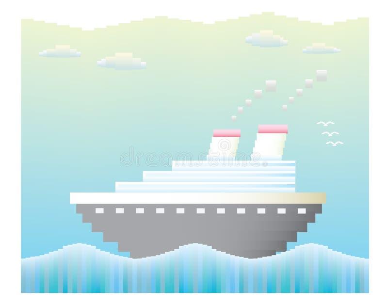 Вектор туристического судна иллюстрация штока
