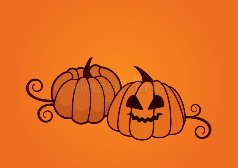 Вектор тыквы хеллоуина иллюстрация вектора
