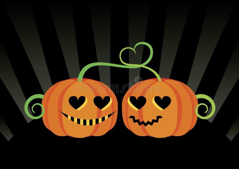 Вектор тыкв хеллоуина любов иллюстрация вектора