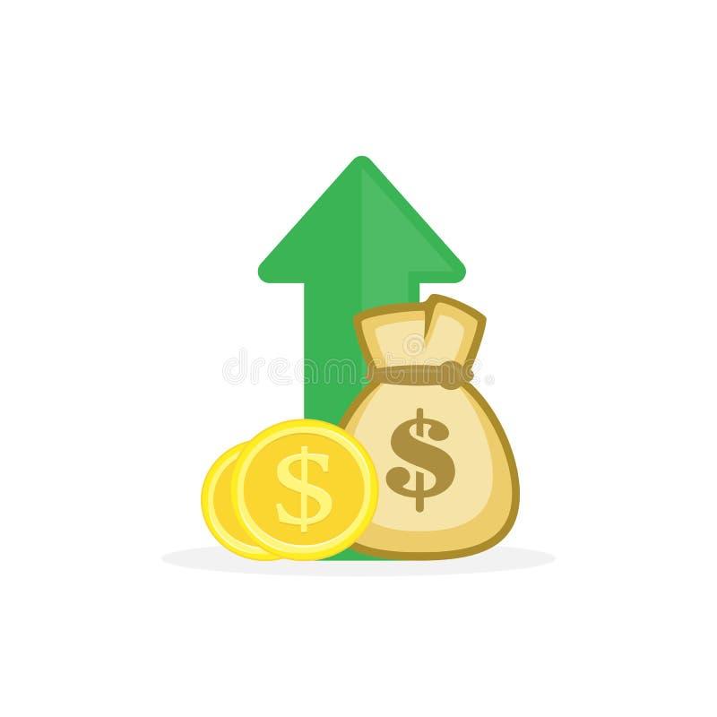 Вектор увеличения дохода иллюстрация штока